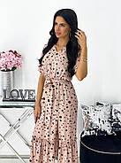 Легке літнє жіноче плаття, довжина міді, 00781 (Бежевий), Розмір 44 (M), фото 2