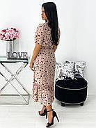 Легке літнє жіноче плаття, довжина міді, 00781 (Бежевий), Розмір 44 (M), фото 4