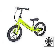 + ПОДАРОК Велобег Scale Sports с дисковым тормозом, деткам от 3 лет. Салатовый
