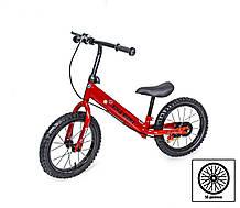 + ПОДАРОК Велобег Scale Sports с дисковым тормозом, деткам от 3 лет. Красный