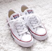 Кеды Converse All Star White Low низкие белые (Конверсы) женские и мужские размеры: 36-44