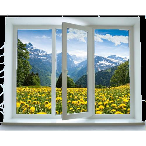 Вікно у кімнату «Стандарт» (1 300х1 400 мм)
