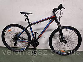 """Велосипед Crosser One-1 *21 29"""" черно-синий горный алюминиевый гидравлика"""