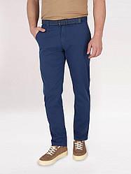 Летние синие мужские брюки чинос Volcano с текстильным ремнем