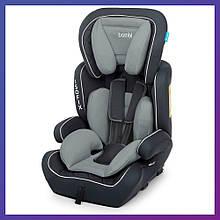 Автокресло-бустер 2 в 1 для детей от 1 года до 12 лет Isofix Bambi M 4250 Gray серое