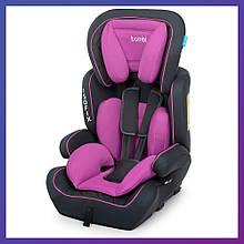 Автокресло-бустер 2 в 1 для детей от 1 года до 12 лет Isofix Bambi M 4250 Purple фиолетовое