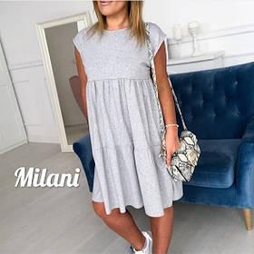 Стильное свободное летнее платье 42-46, 48-52