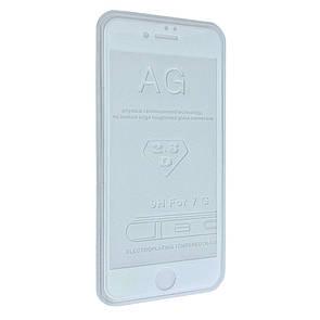 Защитное стекло  весь экран matt for Apple iPhone 7 Plus front (white)