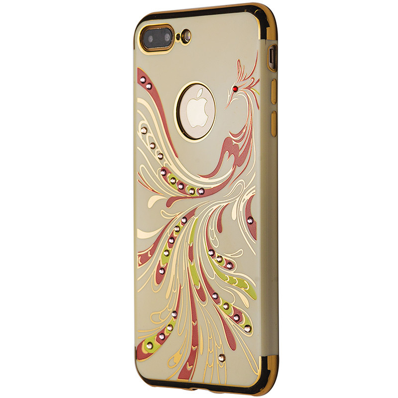 Чехол  Феникс с камнями for Apple iPhone 7 Plus (cream)