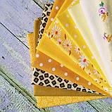 """Великий """"Сонячний"""" набір тканини для рукоділля з 10шт., фото 2"""