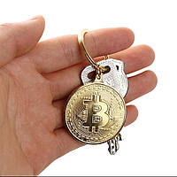 Модный Брелок на ключи сувенирная монета Биткоин