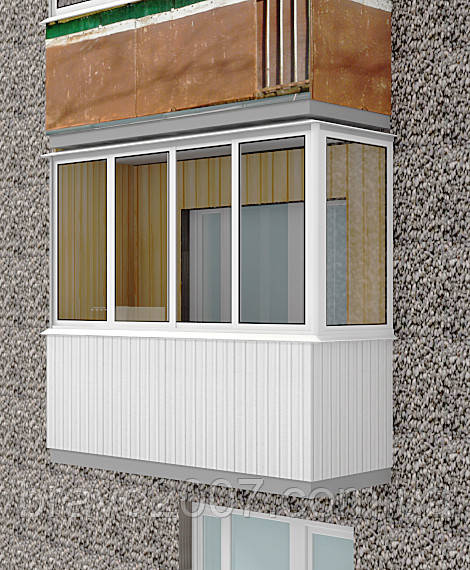 Остекление балкона «Стандарт» (услуга)
