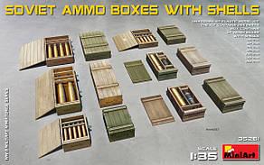 Советские снаряды с ящиками. 1/35 MINIART 35261