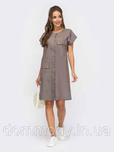 Платье женское летнее из джинса с супатной застежкой