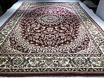 160х230 Lotos 1555/210 ковер бордовый, классический,  производитель Karat Carpet  Украина