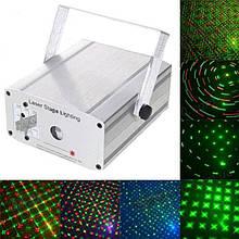 Світлова лазерна установка, лазерний проектор (зелений лазер 50mW червоний - 100mW, з ДУ)