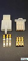 Роз'єм для скутера / електро самоката / велосипеда 3-х контактний комплект під обжимку, фото 1