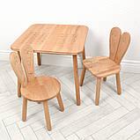 Дитячий дерев'яний столик і 2 стільці 04-025EA + 1 коричневий, фото 2