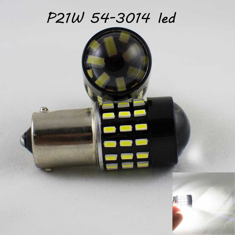 Автомобильная лампа SLP LED 54-3014 SMD в задний ход и ДХО с цоколем 1156(P21W)(BA15S)(R5W)  Белый