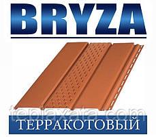 Сайдинг Софіт BRYZA вініловий БРИЗУ теракотовий (1,22 м2)