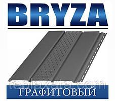Сайдинг Софіт BRYZA вініловий БРИЗУ графітовий (1,22 м2)