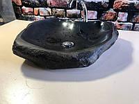 Раковина из натурального базальта Black Cat, фото 1