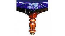 """Чехол для бильярдного стола """"9 футов"""" с резинкой на лузах влагостойкий в синем цвете"""