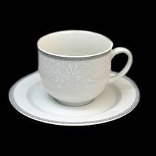 Набор чайный Thun Opal (Обводка сіра) на 6 персон 12 предметов 390мл фарфор (8034800)