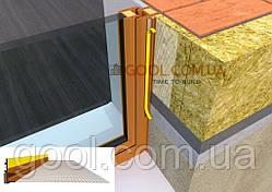 Профиль оконный примыкающий под цвет окна золотой дуб рыжий с армирующей сеткой и резиновой манжетой 2.5 м.п.