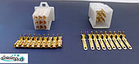Коннектор проводки для скутера / электро самоката / велосипеда 9-ти контактный комплект под обжимку, фото 1