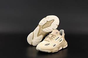 Женские бежевые Adidas Ozweego Celox Baige (Светлые кроссовки Адидас Озвиго весна/лето)