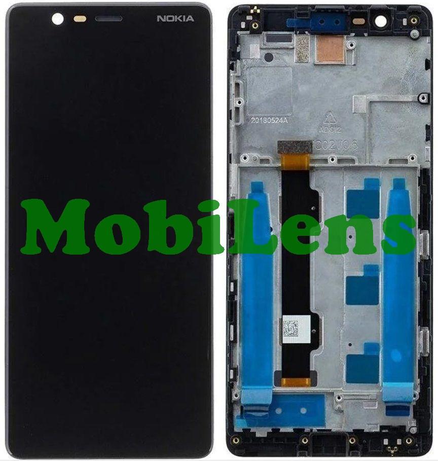 Nokia 5.1, TA-1075 Дисплей+тачскрін(модуль) чорний *в рамці Original *PRC