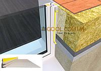 Профиль примыкания к окну с армирующей сеткой и резиновой манжетой 2.5 м.п., фото 1