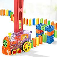 Набір іграшок-поїзд доміно Domino Happy Truck sciries Colors 100 деталей, фото 1