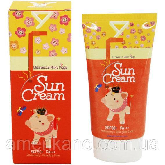 Солнцезащитный крем SPF 50+ Elizavecca Face Care Milky Piggy Sun Cream SPF 50+
