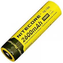 Літієвий акумулятор Li-Ion 18650 Nitecore NL186 3.7 V (2600mAh), захищений