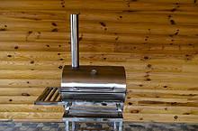 Мангал гриль с шампурами для барбекю на ножках из нержавеющей стали Троян-Н-01 ko-18367