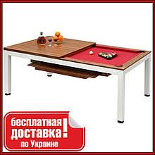 Бильярдный стол для пула с крышкой и лавкой Mario 7 футов  214 x 121 x 82 см из МДФ