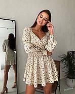 Маленькое платье с длинным рукавом и красивым вырезом на груди, 00798 (Бежевый), Размер 46 (L), фото 2
