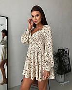 Маленькое платье с длинным рукавом и красивым вырезом на груди, 00798 (Бежевый), Размер 46 (L), фото 4