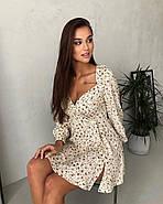 Маленькое платье с длинным рукавом и красивым вырезом на груди, 00798 (Бежевый), Размер 46 (L), фото 5