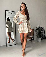 Маленькое платье с длинным рукавом и красивым вырезом на груди, 00798 (Бежевый), Размер 46 (L), фото 6