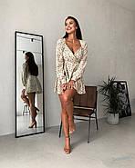 Маленькое платье с длинным рукавом и красивым вырезом на груди, 00798 (Бежевый), Размер 46 (L), фото 7