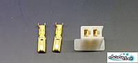 Разъем проводки для скутера / электро самоката / велосипеда 2-х контактный (мама) под обжимку, фото 1