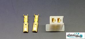 Роз'єм проводки для скутера / електро самоката / велосипеда 2-х контактний (мама) під обжимку