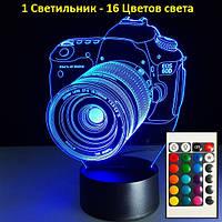 """3D светильник, """"Фотоаппарат"""", Оригинальный подарок мужчине, Подарки с днём рождения, подарок для мужа"""