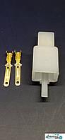 Роз'єм проводки для скутера / електро самоката / велосипеда 2-х контактний (папа) під обжимку