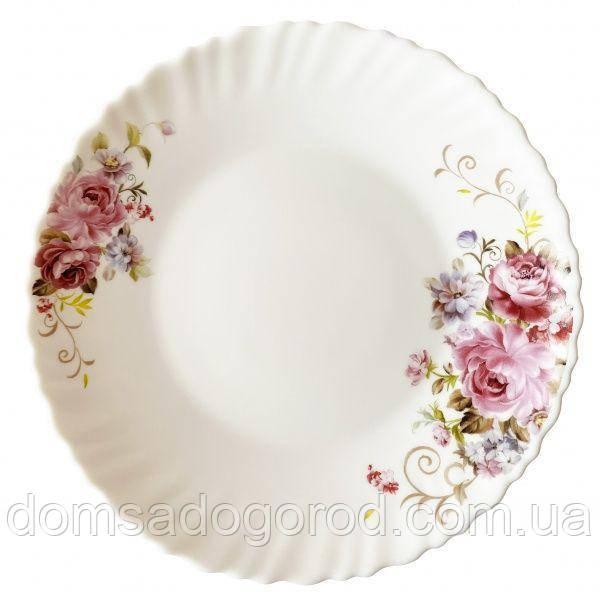Тарелка обеденная 220 мм Vittora Розовый букет V-220PB