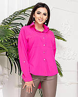Блуза жіноча з софта, арт А012, колір малина