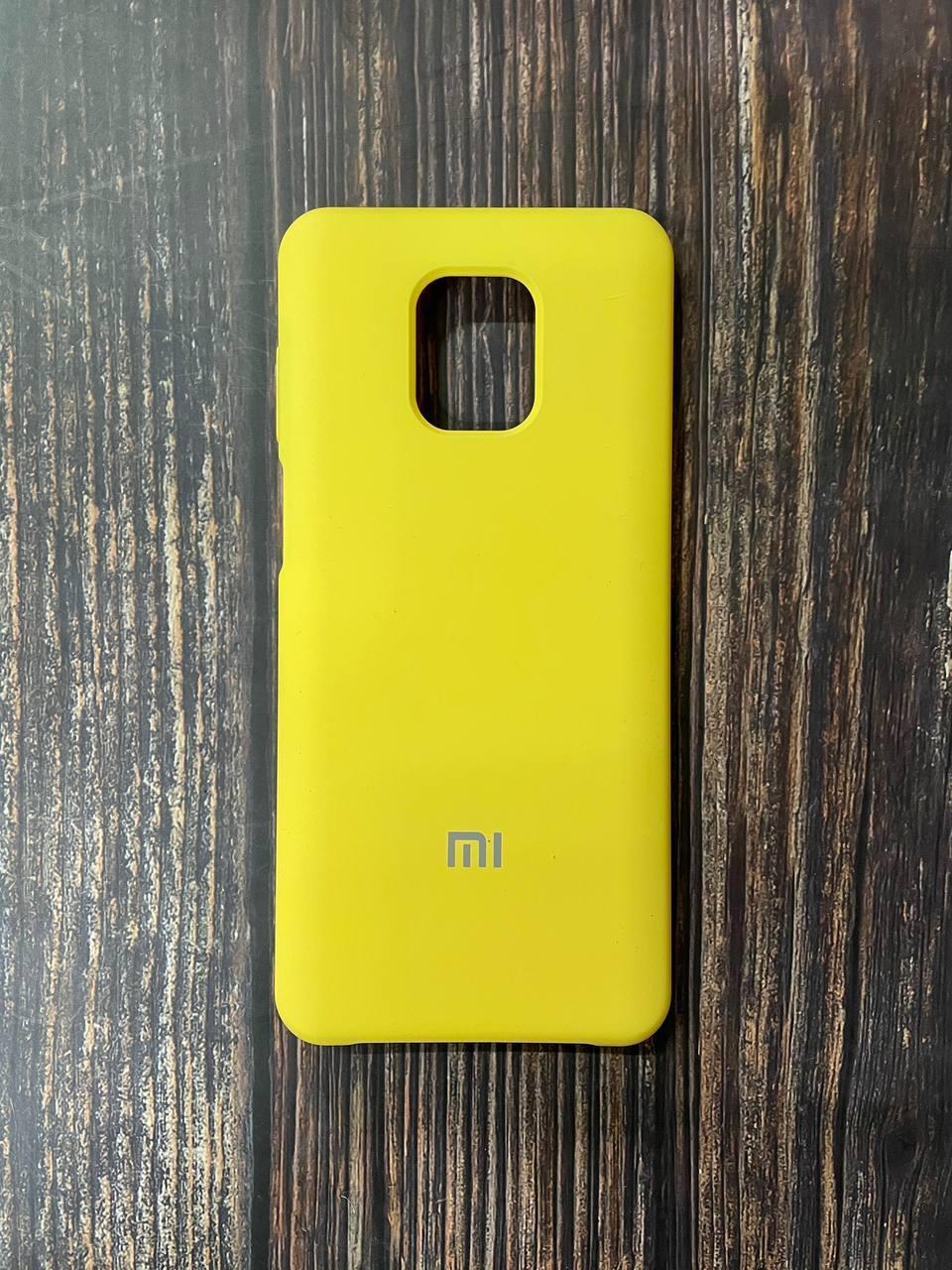 "Чехол Silicon Xiaomi Redmi Note 9 pro - ""Желтый №4"""